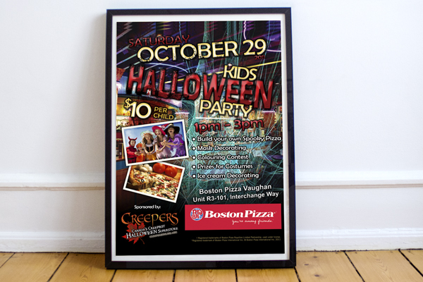 Boston Pizza - Advertising Poster
