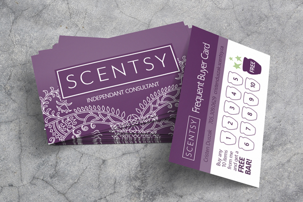 Scentsy consultant business card colourmoves